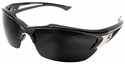 Edge Khor Safety Glasses with Black Frame and Smoke Lens