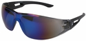 Edge Kirova Safety Glasses with Blue Mirror Lens