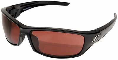 Edge Reclus Safety Glasses with Black Frame and Copper Lens