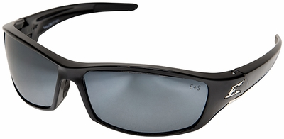 Edge Reclus Safety Glasses with Black Frame and Silver Mirror Lens