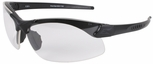 Edge Sharp Edge Tactical Safety Glasses with Black Frame and Clear Lens