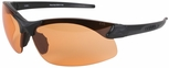 Edge Sharp Edge Tactical Safety Glasses with Black Frame and Tiger's Eye Lens