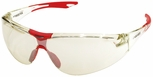 Elvex Avion Safety Glasses with Red Temple Tip and Indoor-Outdoor Lens