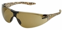 Elvex Avion SlimFit Safety Glasses with Leopard Temples and Brown Lens