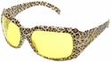 Elvex Chica Safety Glasses with Leopard Frame and Amber Lens