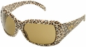Elvex Chica Safety Glasses with Leopard Frame and Brown Lens