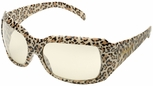 Elvex Chica Safety Glasses with Leopard Frame and Indoor/Outdoor Lens