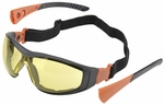 Elvex Go-Specs II with Black Frame, Foam Seal and Amber Anti-Fog Lens