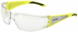 Elvex Reflect-Specs Safety Glasses with Hi-Viz Yellow and Silver Reflecting Temples and Clear Lens