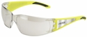 Elvex Reflect-Specs Safety Glasses with Hi-Viz Yellow and Silver Reflecting Temples and Indoor/Outdoor Lens