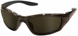ERB 8200 Polarized Safety Glasses with Brown Frame and Brown Lens