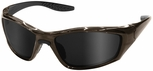 ERB 8200 Safety Glasses with Brown Frame and Smoke Lens
