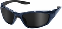 ERB 8200 Safety Glasses with Deep Gloss Blue Frame and Smoke Lens