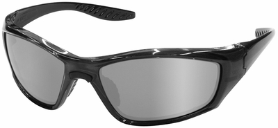 ERB 8200 Safety Glasses with Titanium Gloss Frame and Silver Mirror Lens
