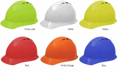ERB Americana Vented Hard Hat with Standard Brim and 4-Point Ratchet Suspension