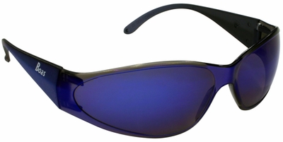ERB Boas Safety Glasses with Blue Frame and Blue Mirror Lens