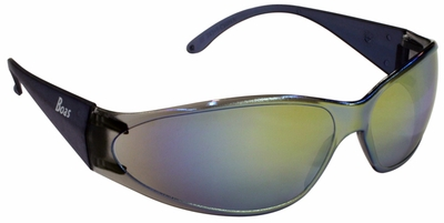 ERB Boas Safety Glasses with Smoke Frame and Gold Mirror Lens