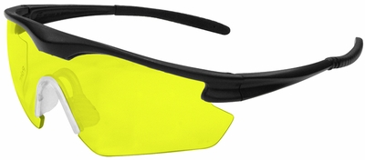 ERB Point Safety Glasses with Black Frame and Amber Lens