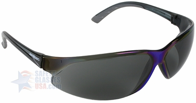 ERB supERB Safety Glasses with Blue Frame and Smoke Lens