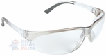 ERB supERB Safety Glasses with Silver Frame and Clear Lens