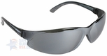 ERB supERB Safety Glasses with Smoke Frame and Silver Mirror Lens