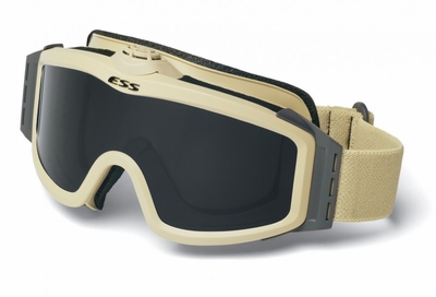 ESS Profile TurboFan Ballistic Goggle with Desert Tan Frame and Clear and Gray Lenses
