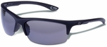 Gargoyles Flux Safety Sunglasses with Rubberized Black Frame and Smoke Polarized Lens