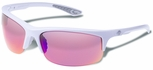 Gargoyles Flux Safety Sunglasses with White Frame and Plasma Mirror Lens