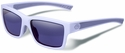 Gargoyles Homeland Sunglasses with Matte White Frame and Blue Mirror Polarized Lens