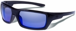 Gargoyles Khyber Sunglasses with Black Frame and Blue Mirror Polarized Lens