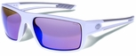 Gargoyles Rampart Safety Sunglasses with White Frame and Blue Mirror Lens