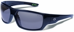 Gargoyles Wrath Safety Sunglasses with Navy Metallic Frame and Silver Mirror Polarized Lens