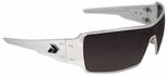 Gatorz Darth Sunglasses with Polished Aluminum Frame and Gray Lens