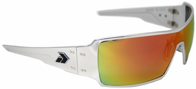 Gatorz Darth Sunglasses with Polished Aluminum Frame and Sunburst Mirror Lens