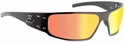 Gatorz Magnum Sunglasses with Black Aluminum Frame and Sunburst Multi-Chrome Lens