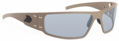 Gatorz Magnum Sunglasses with Cerakote Military Tan Frame and Grey Polarized Lens