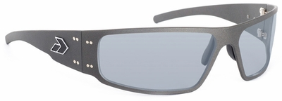 Gatorz Magnum Sunglasses with Cerakote Tungsten Frame and Grey Polarized Lens