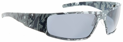 Gatorz Magnum Sunglasses with Digi Camo Blue Frame and Grey Polarized Lens