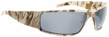 Gatorz Magnum Sunglasses with Cerakote Digi Camo Desert Frame and Grey Polarized Lens