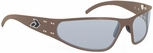 Gatorz Wraptor Sunglasses with Cerakote Burnt Bronze Frame and Grey Polarized Lens