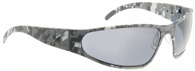 Gatorz Wraptor Sunglasses with Cerakote Digi Camo Blue Frame and Grey Polarized Lens