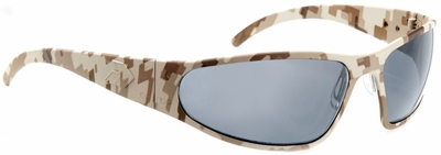 Gatorz Wraptor Sunglasses with Cerakote Digi Camo Desert Frame and Grey Polarized Lens