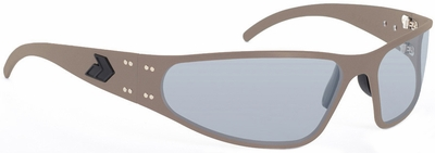 Gatorz Wraptor Sunglasses with Cerakote Military Tan Frame and Grey Polarized Lens