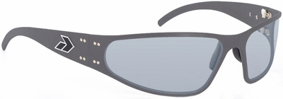 Gatorz Wraptor Sunglasses with Cerakote Tungsten Frame and Grey Polarized Lens