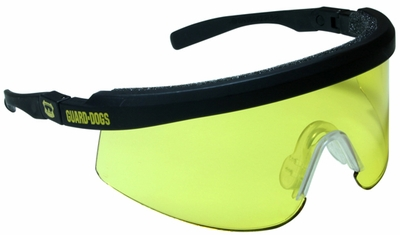 Guard Dogs Bones Safety Glasses with Gold Lens