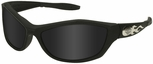Harley Davidson HD1001 Safety Glasses with Black Frame and Gray Lens