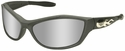 Harley Davidson HD1002 Safety Glasses with Gun Metal Frame and Silver Mirror Lens