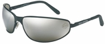 Harley Davidson HD513 Safety Glasses with Matte Black Frame and Silver Mirror Lens