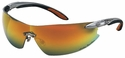 Harley Davidson HD800 Safety Glasses with Orange Mirror Lens