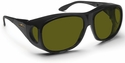 Haven Summerwood OTG Sunglasses with Large Black Frame and Yellow Polarized Lens